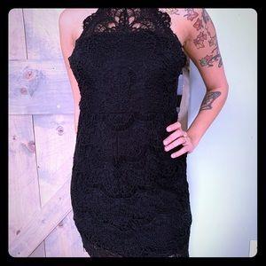⭐️Free people Black lace dress